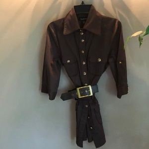 Bebe 3/4 sleeve collard shirt small